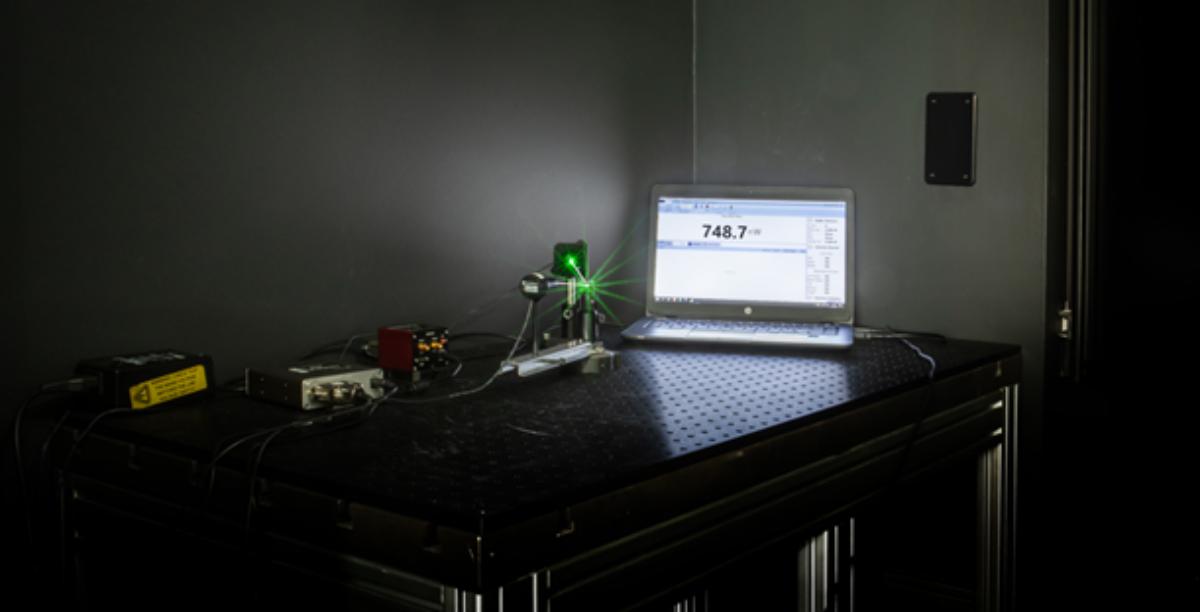 Leistungsmessung einer abgelenkten Laserdiode